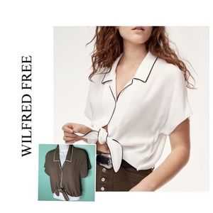MOVING SALE📦 Aritzia Wilfred Free Huang Crop Top
